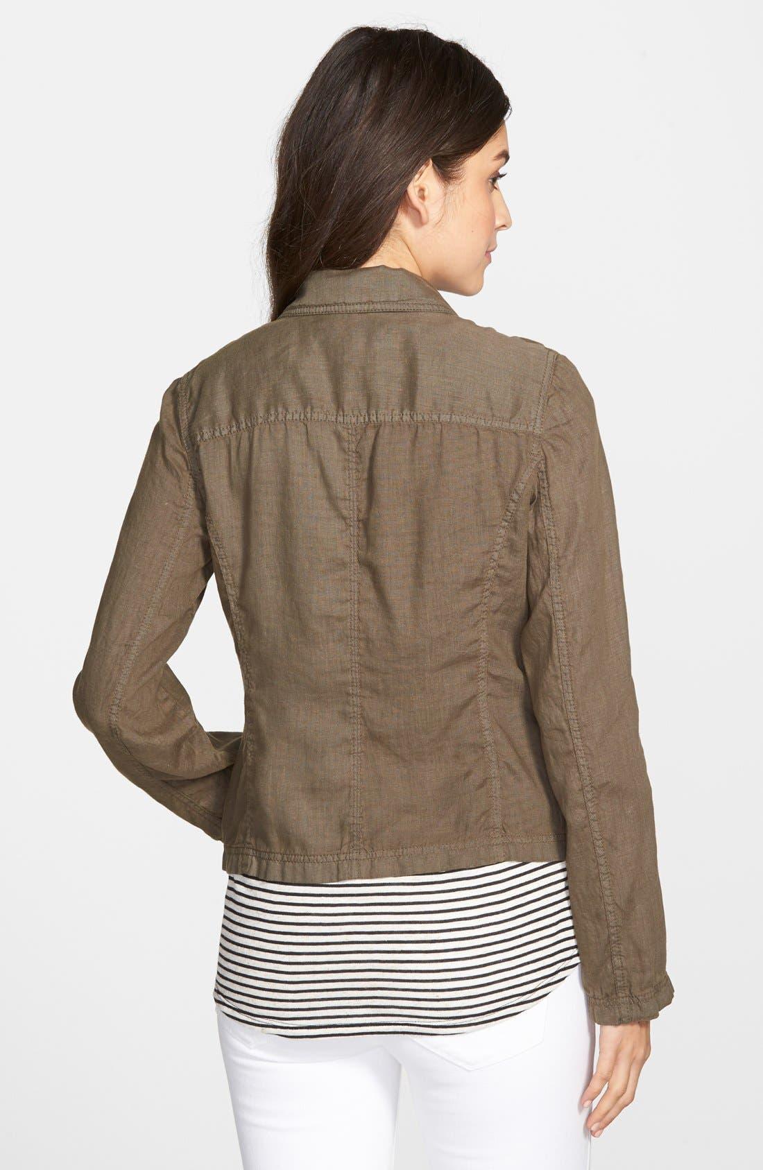 Alternate Image 2  - Caslon® Linen One-Button Blazer
