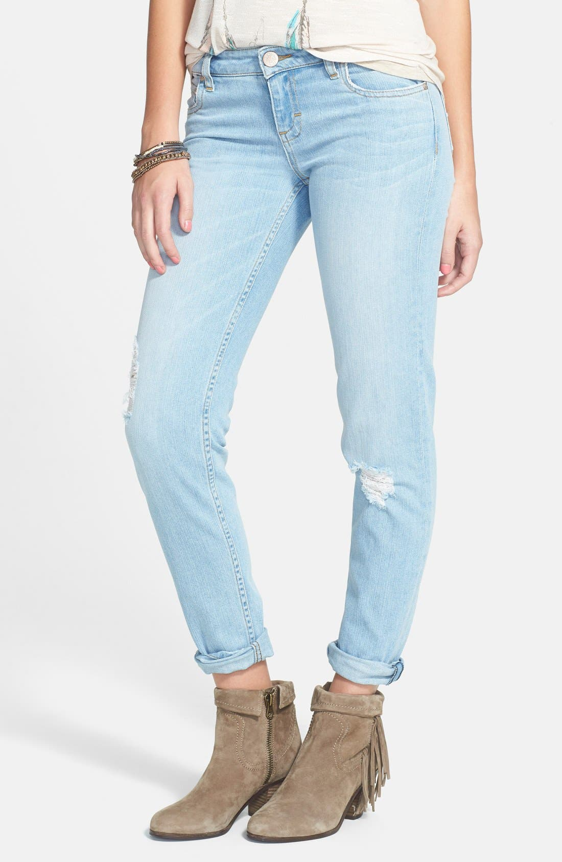 Alternate Image 1 Selected - STS Blue 'Joey' Boyfriend Jeans (Light Wash)