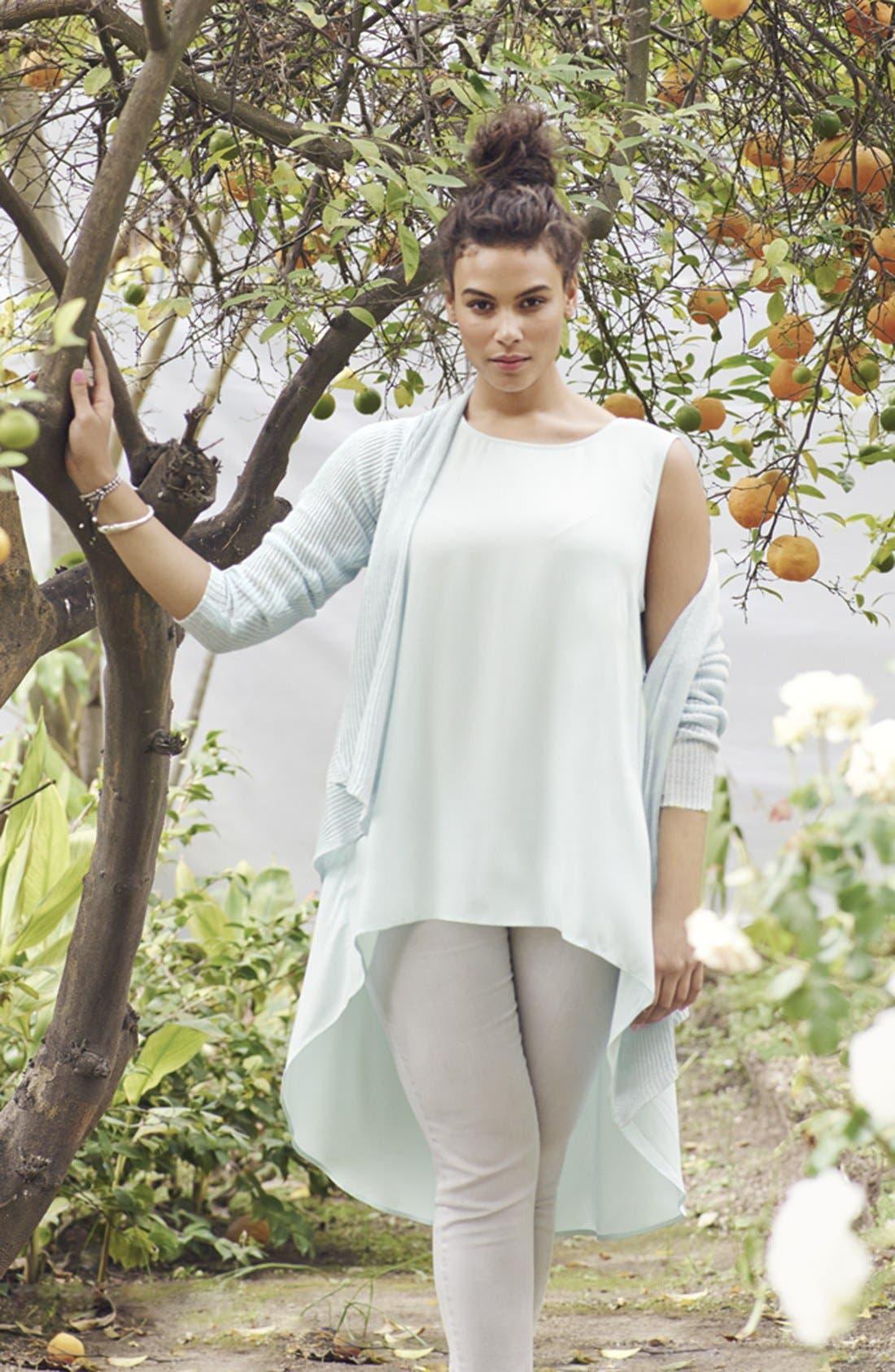 Alternate Image 5  - Eileen Fisher Shaped Linen Cardigan (Plus Size)
