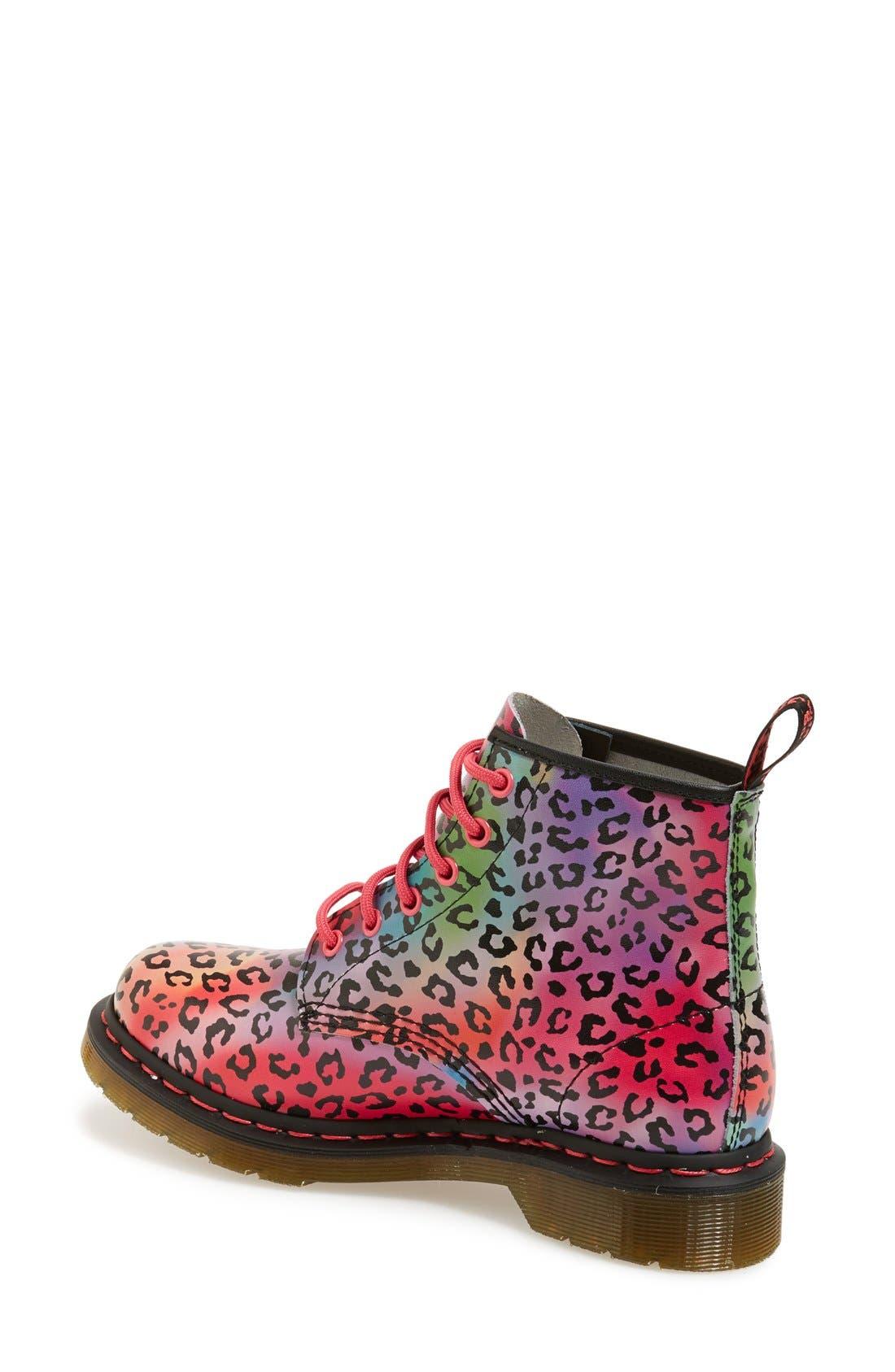 Alternate Image 2  - Dr. Martens '101' Leopard Print Leather Boot (Women)