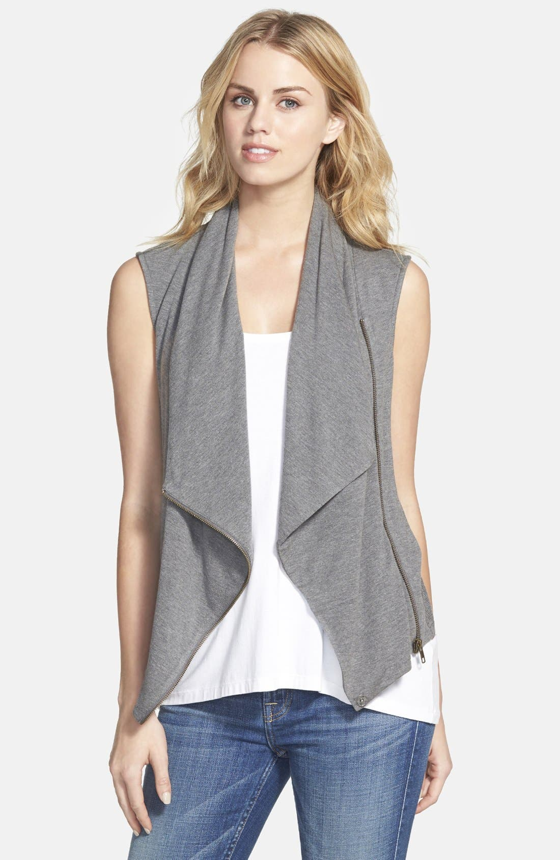 Alternate Image 1 Selected - Caslon® Drape Front Knit Vest