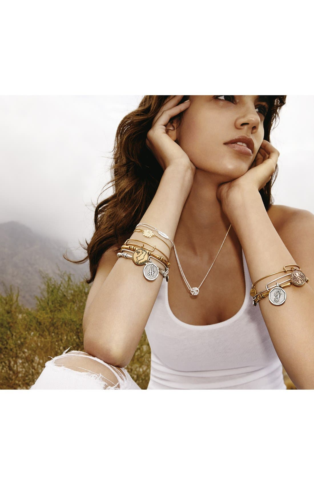 Alternate Image 4  - Alex and Ani 'Providence' Feather Pull Chain Bracelet