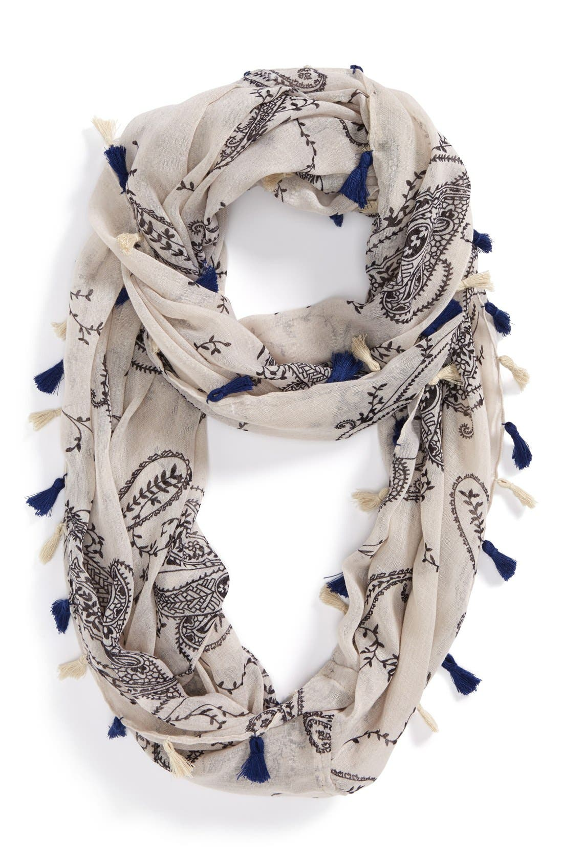 Main Image - Evelyn K Paisley Infinity Scarf