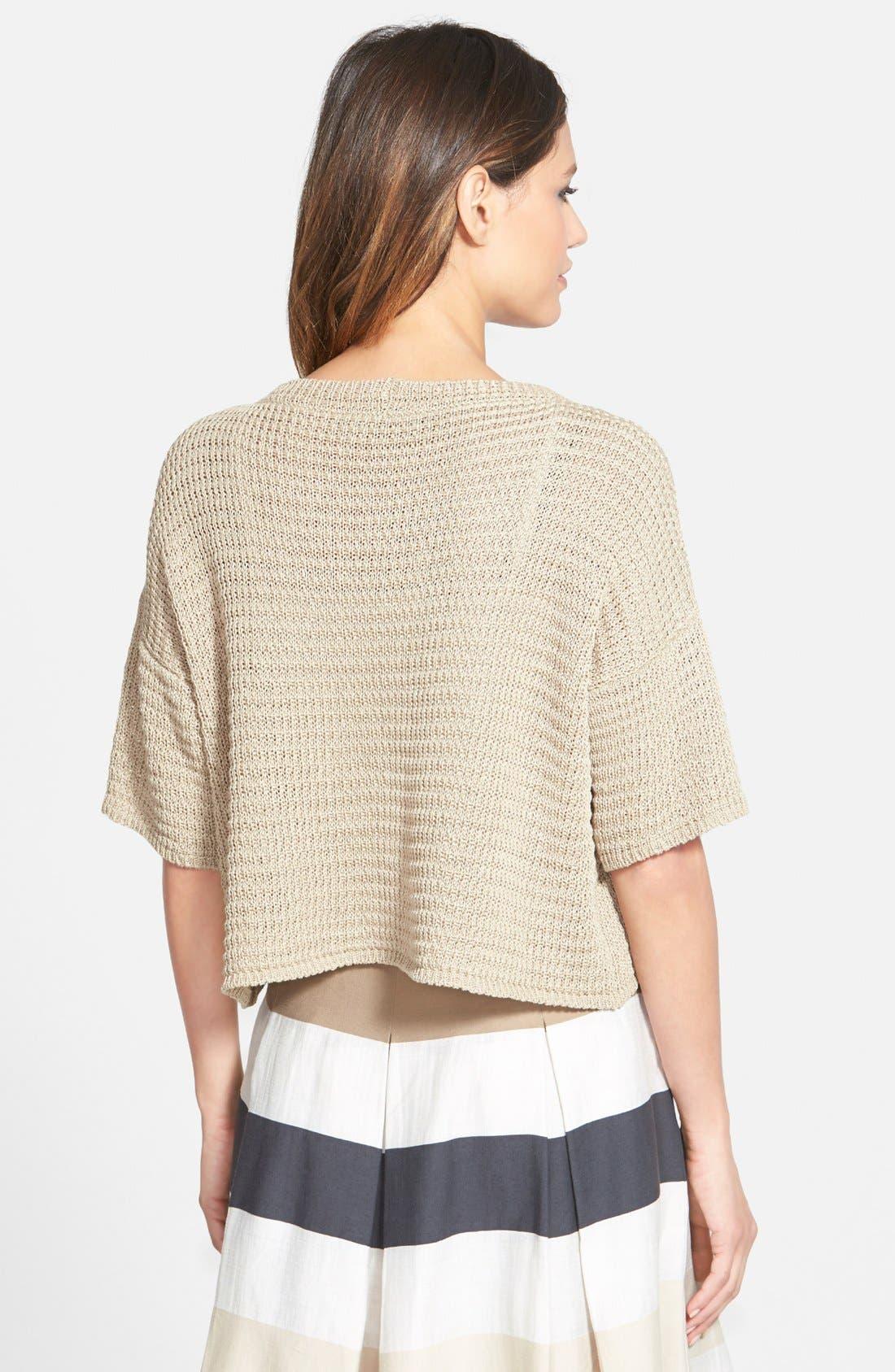 Alternate Image 2  - Weekend Max Mara 'Sapone' Crop Cotton Sweater