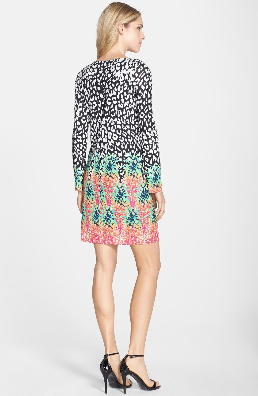 Alternate Image 2  - Nicole Miller Mixed Print Jersey Shift Dress