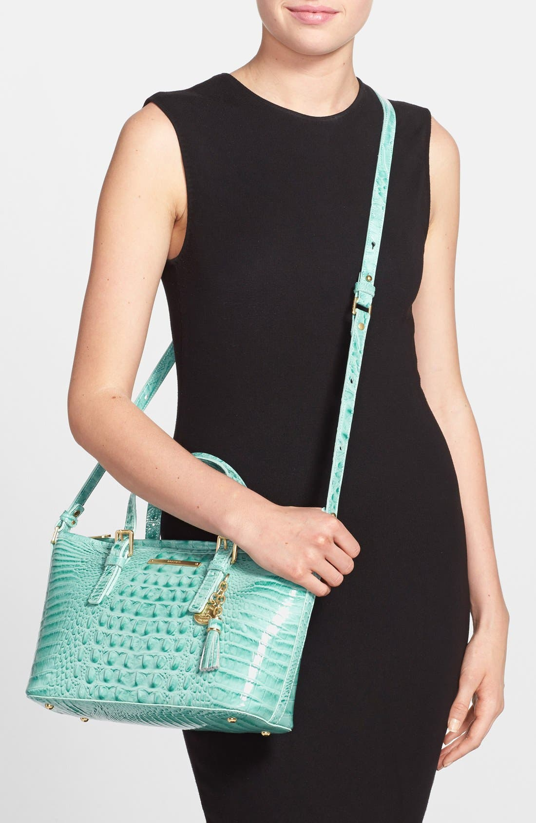 Alternate Image 2  - Brahmin 'Melbourne - Mini Asher' Croc Embossed Leather Tote