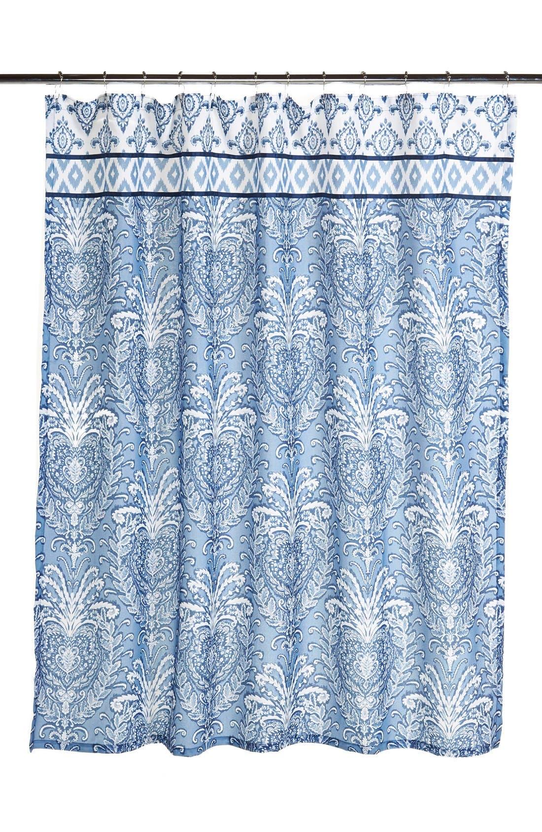 Alternate Image 1 Selected - Dena Home 'Madison' Ikat Print Shower Curtain