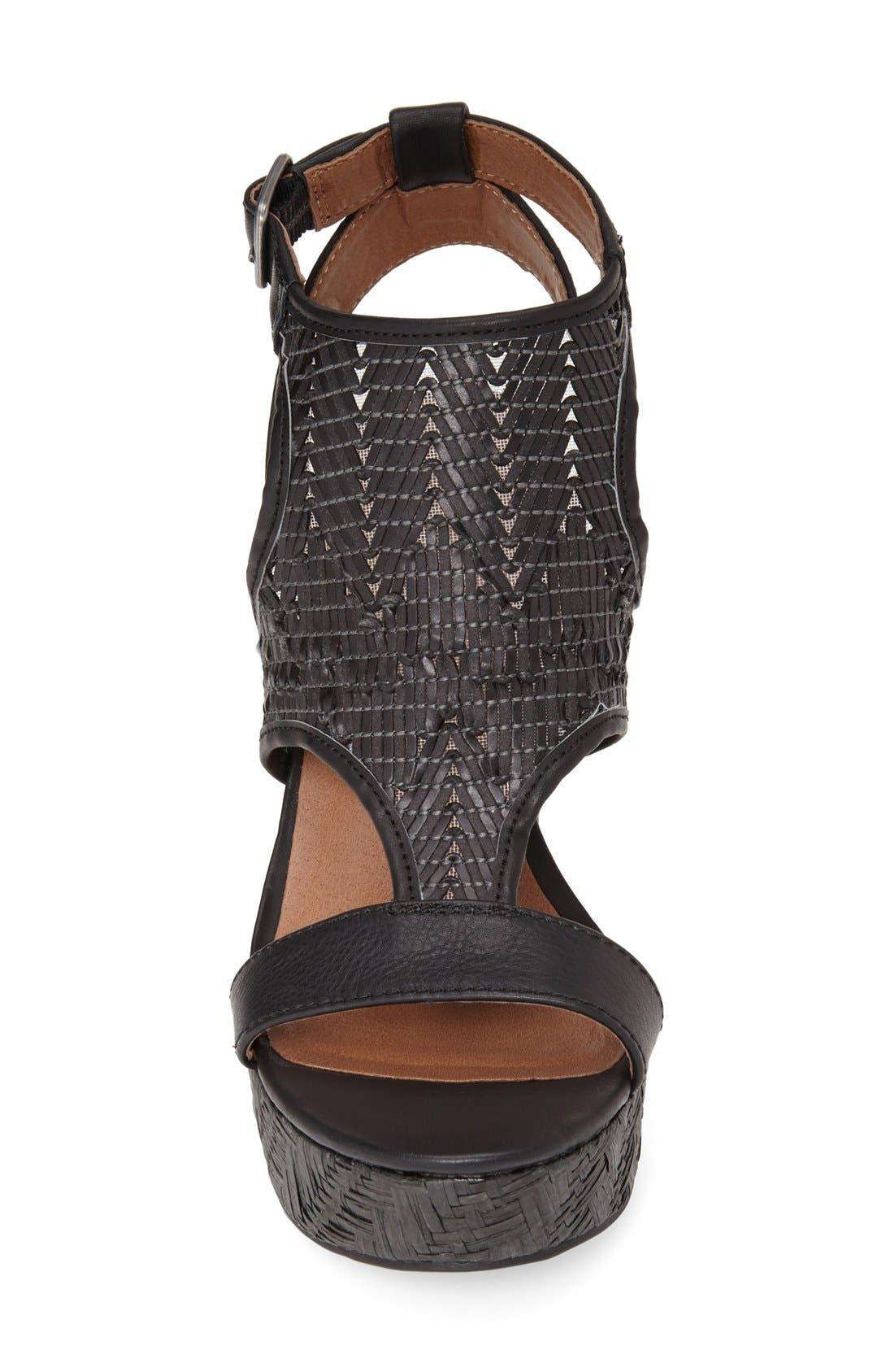 Alternate Image 3  - Lucky Brand 'Laffertie' T-Strap Wedge Sandal (Women)