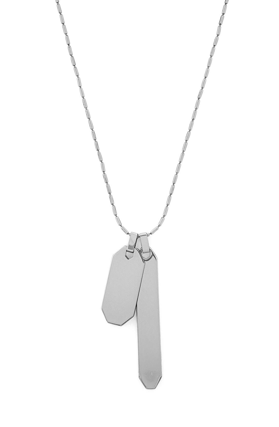 Main Image - Vince Camuto Double Tag Pendant Necklace