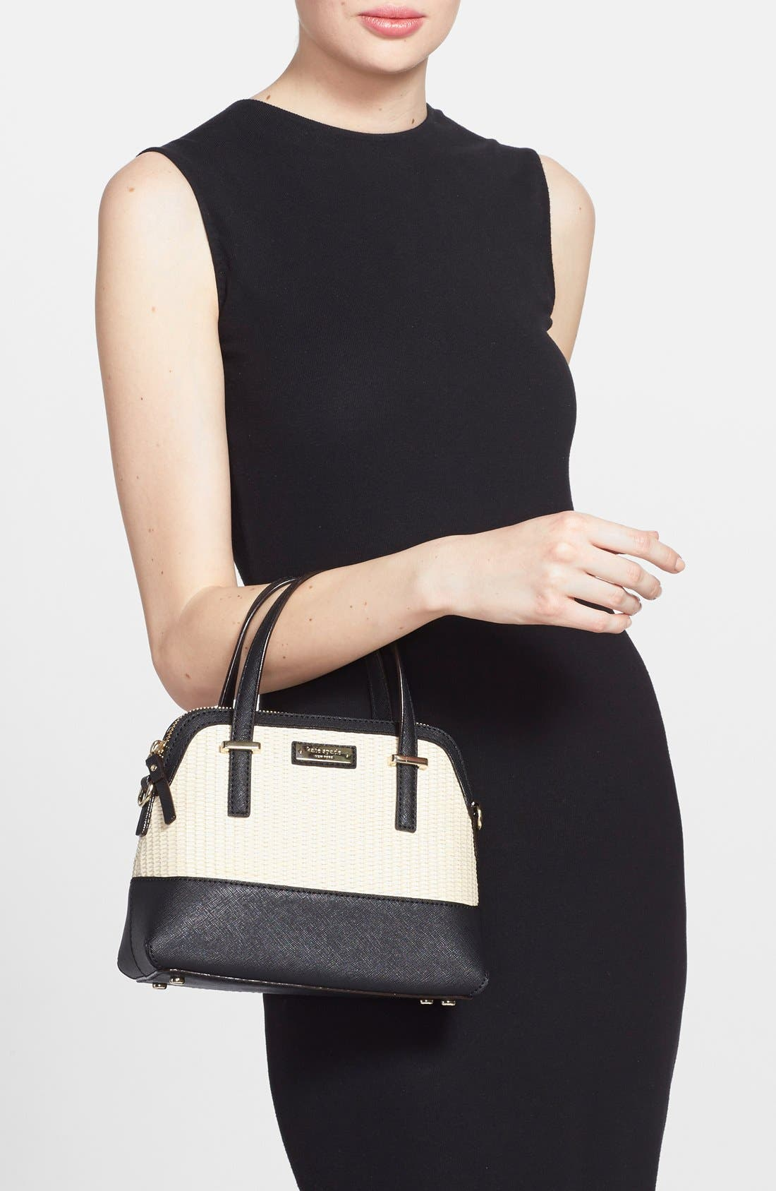 Alternate Image 2  - kate spade new york 'cedar street straw - small maise' satchel
