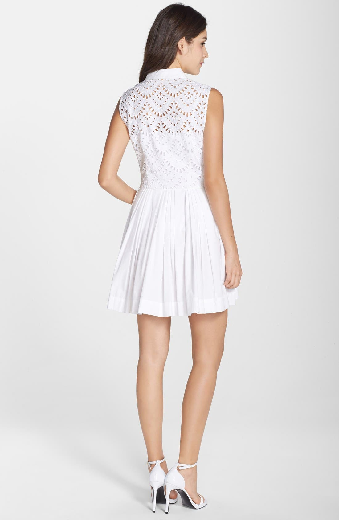 Alternate Image 2  - Cynthia Rowley Cotton Fit & Flare Shirtdress