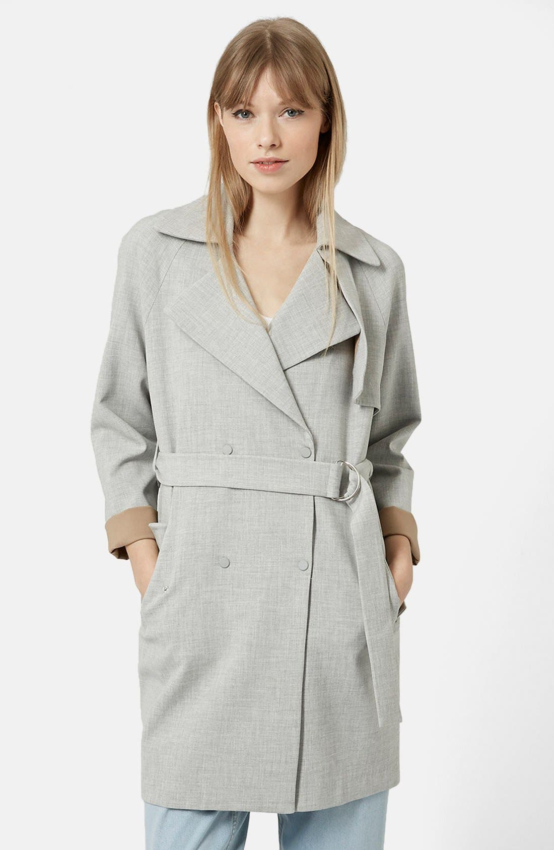 Main Image - Topshop Double Breasted Trench Coat
