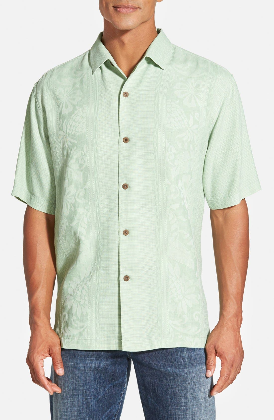 Main Image - Tommy Bahama 'Amazon' Original Fit Silk Jacquard Camp Shirt