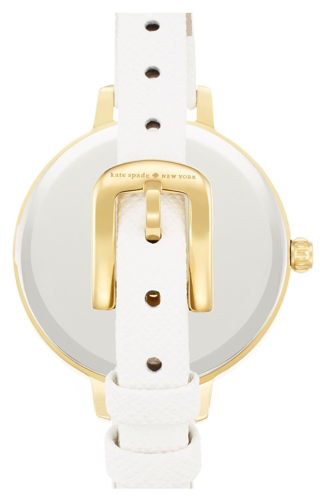 Alternate Image 2  - kate spade new york 'metro' butterfly dial leather strap watch, 34mm