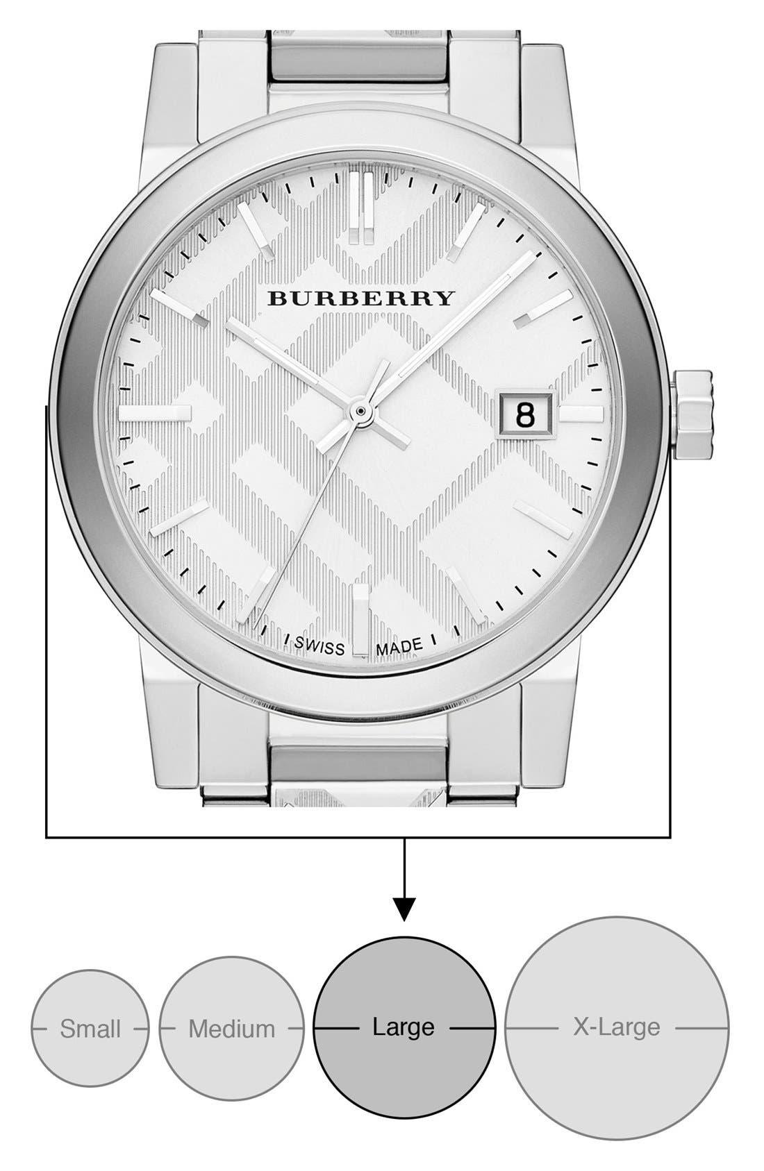 Alternate Image 6  - Burberry Check Stamped Bracelet Watch, 38mm