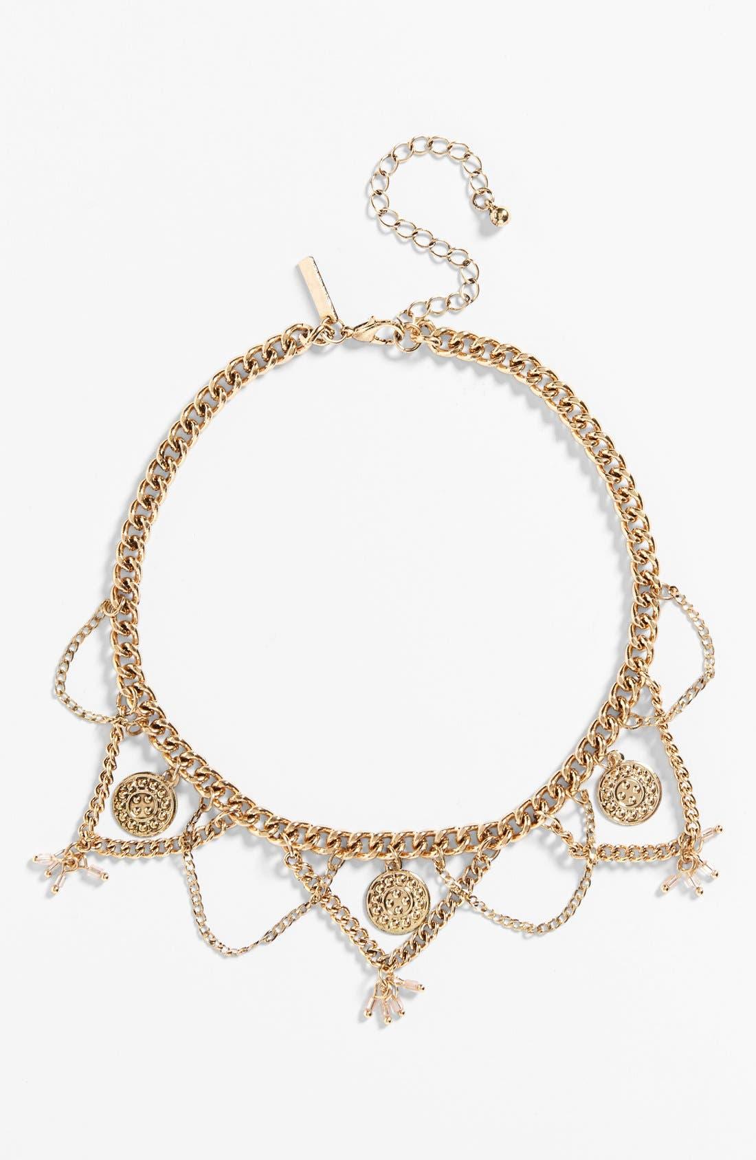 Main Image - Topshop Coin Collar Necklace