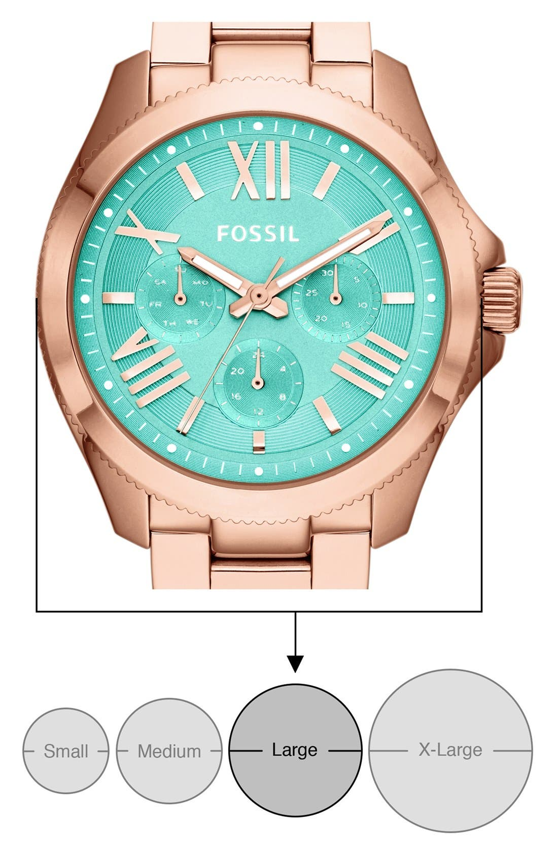 Alternate Image 5  - Fossil 'Cecile' Multifunction Bracelet Watch, 40mm