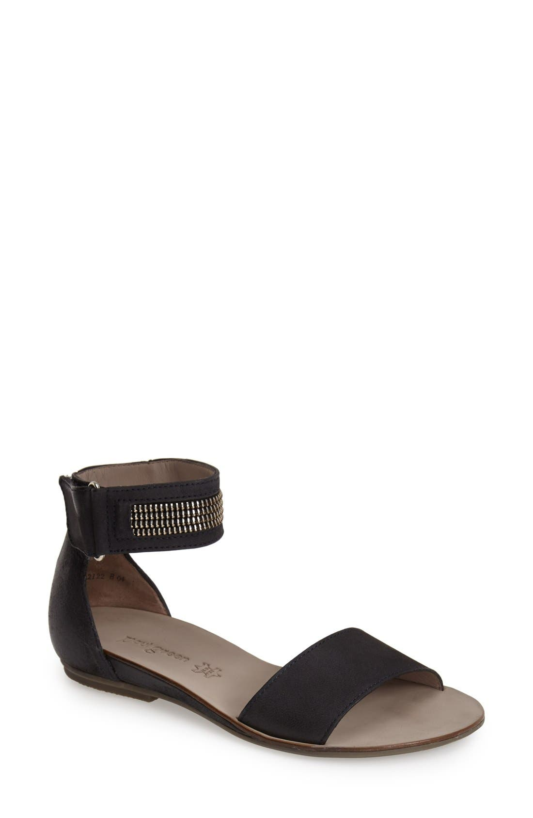 Alternate Image 1 Selected - Paul Green 'Cotie' Ankle Strap Flat Sandal (Women)