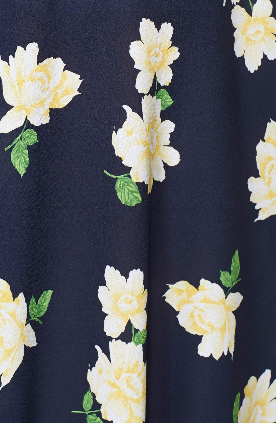 Alternate Image 4  - Michael Kors Floral Print Silk Georgette Circle Skirt