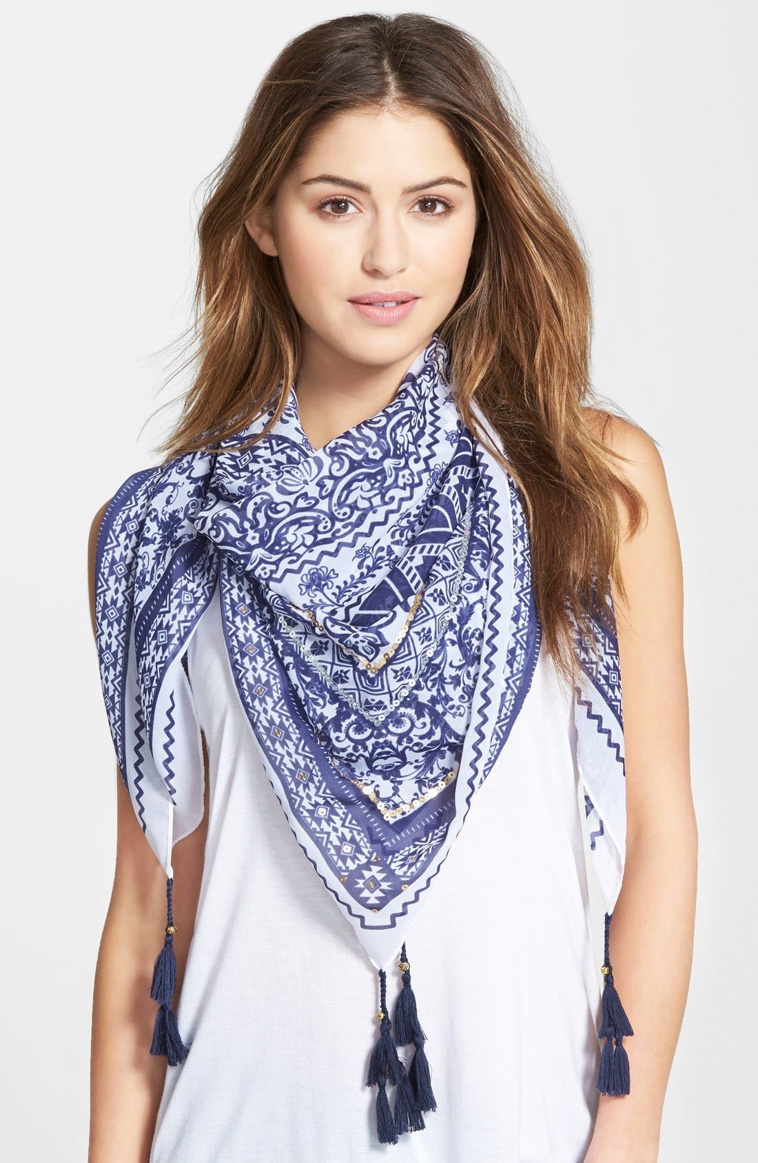 Alternate Image 1 Selected - Accessories 212 Tassel Square Scarf