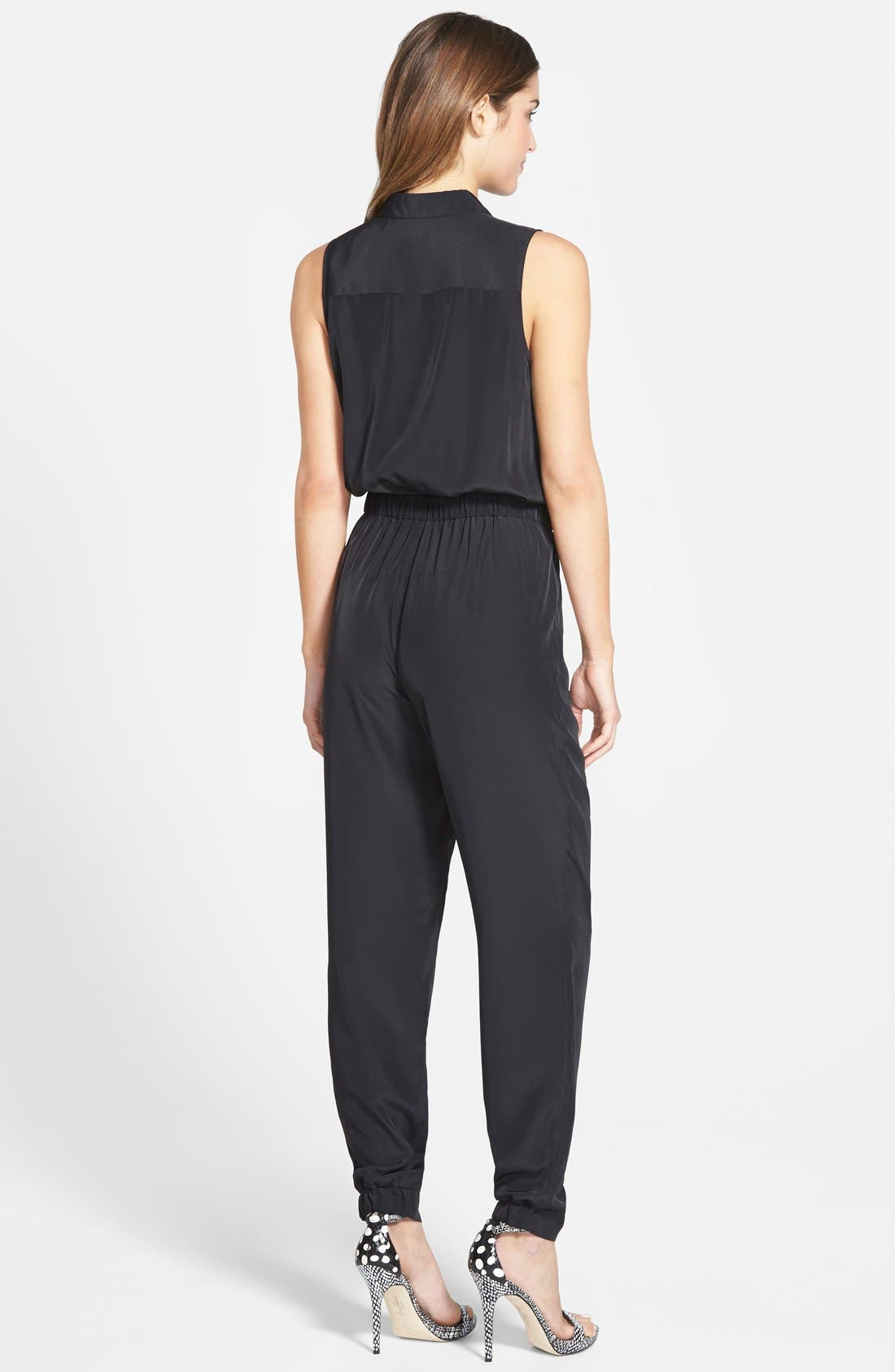 Alternate Image 2  - Halogen® Four-Pocket Sleeveless Jumpsuit (Regular & Petite)