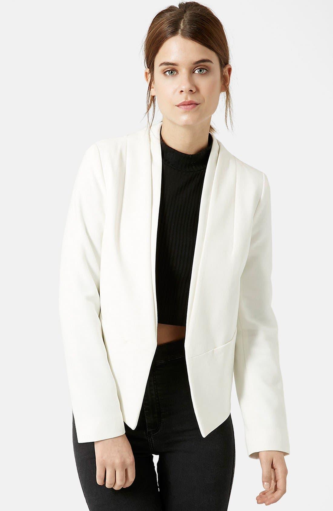 Main Image - Topshop 'Poppy' Double Collar Blazer