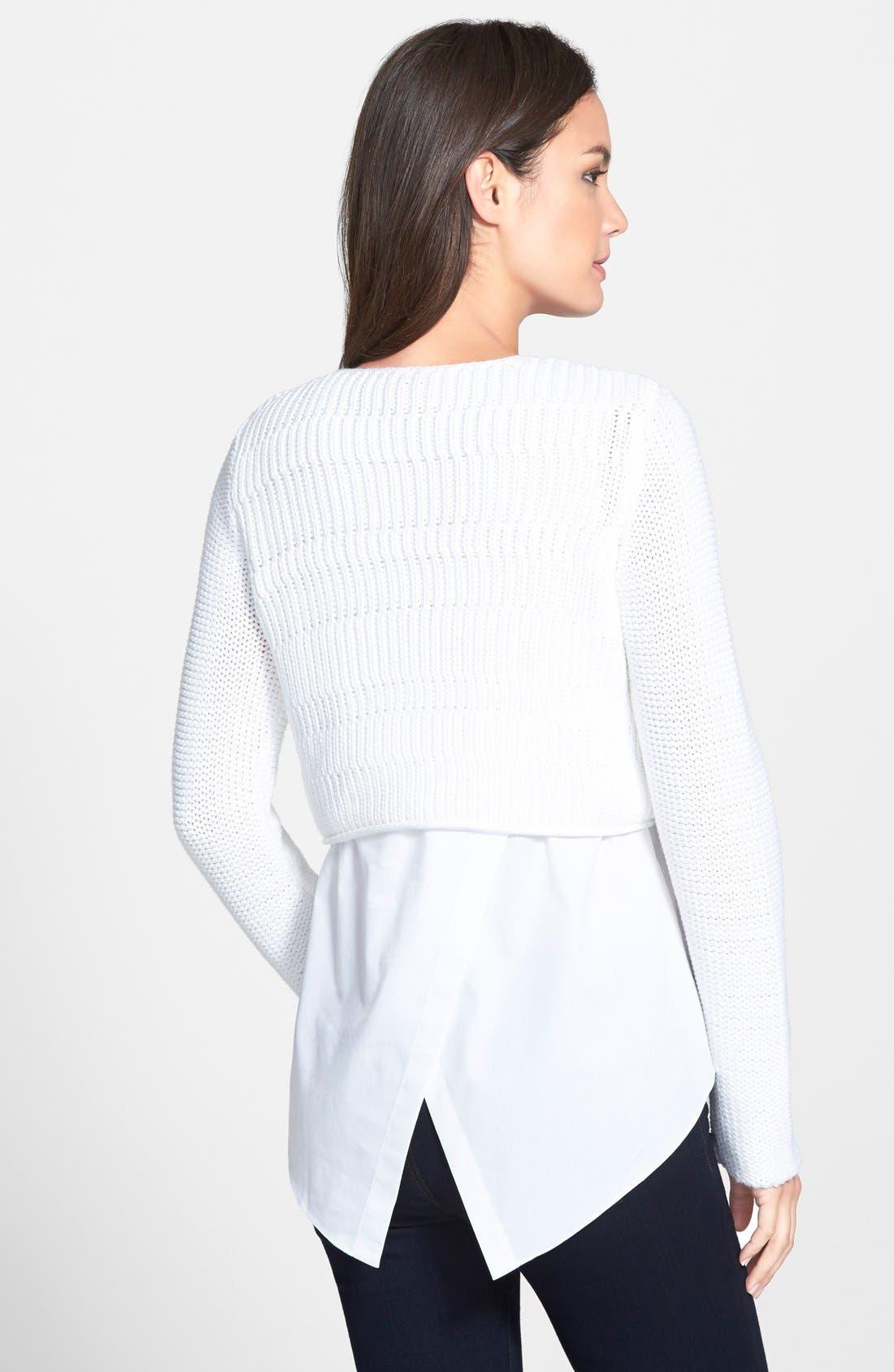 Alternate Image 2  - Elie Tahari 'Elenore' Layered Sweater