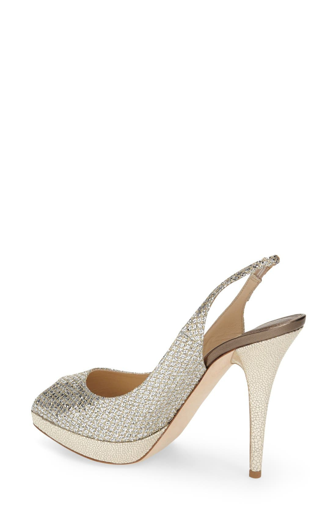 Alternate Image 7  - Jimmy Choo 'Clue' Glitter Slingback Pump (Nordstrom Exclusive Color)