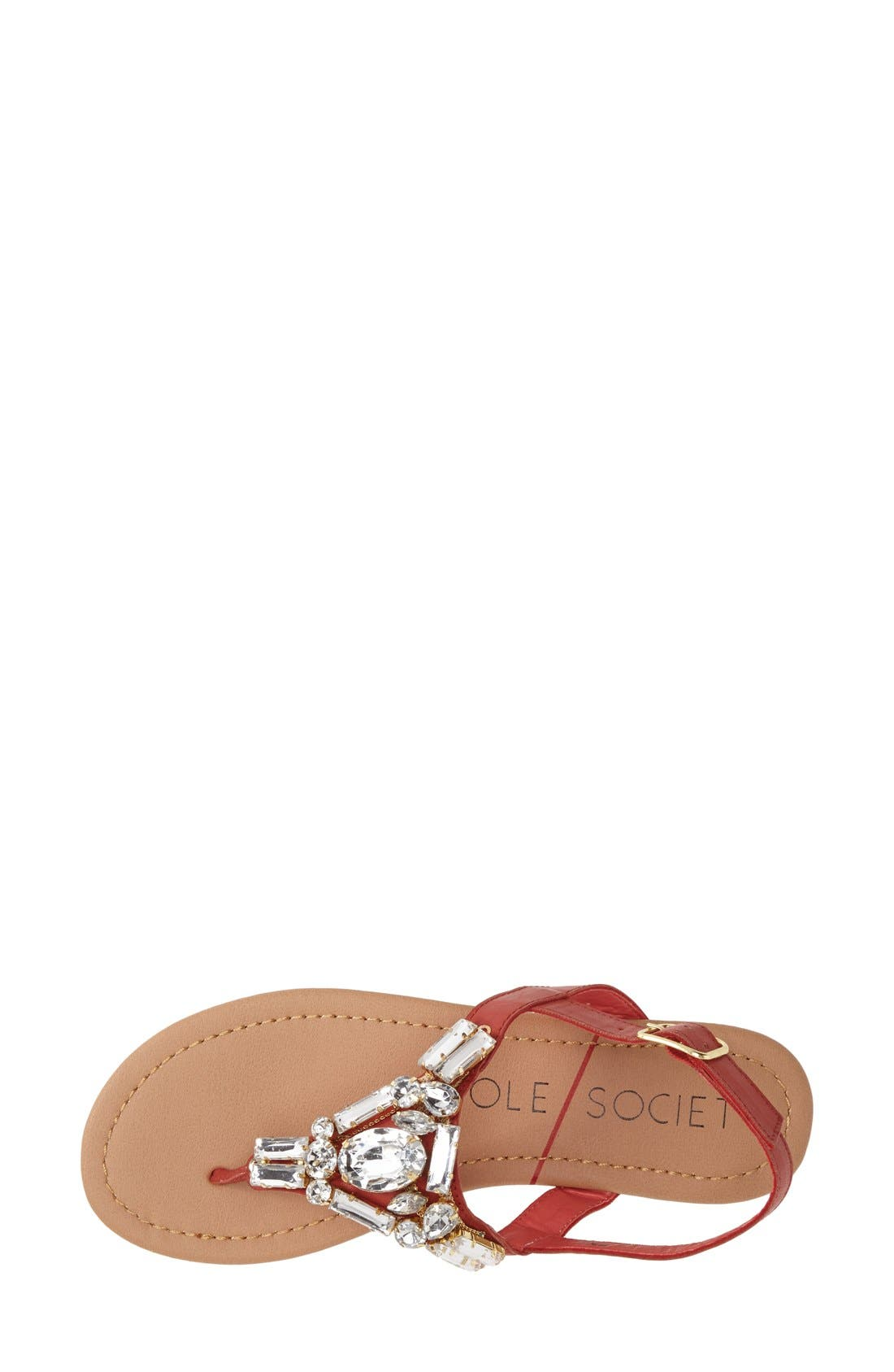 Alternate Image 3  - Sole Society 'Angelin' Crystal Sandal (Women)
