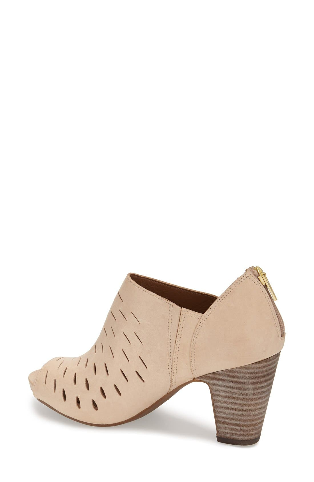 Alternate Image 2  - Clarks® 'Okena Posh' Peep-Toe Leather Sandal (Women)