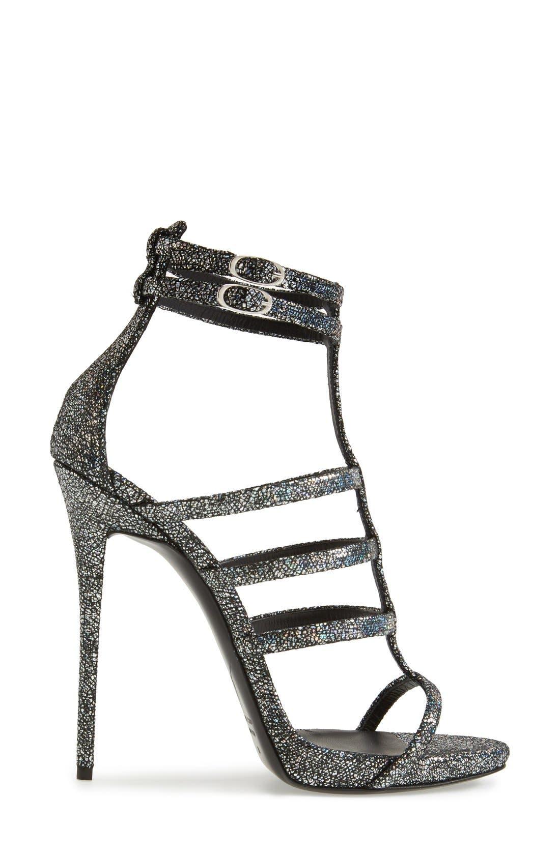 Alternate Image 4  - Giuseppe Zanotti Metallic Strappy Sandal (Women)