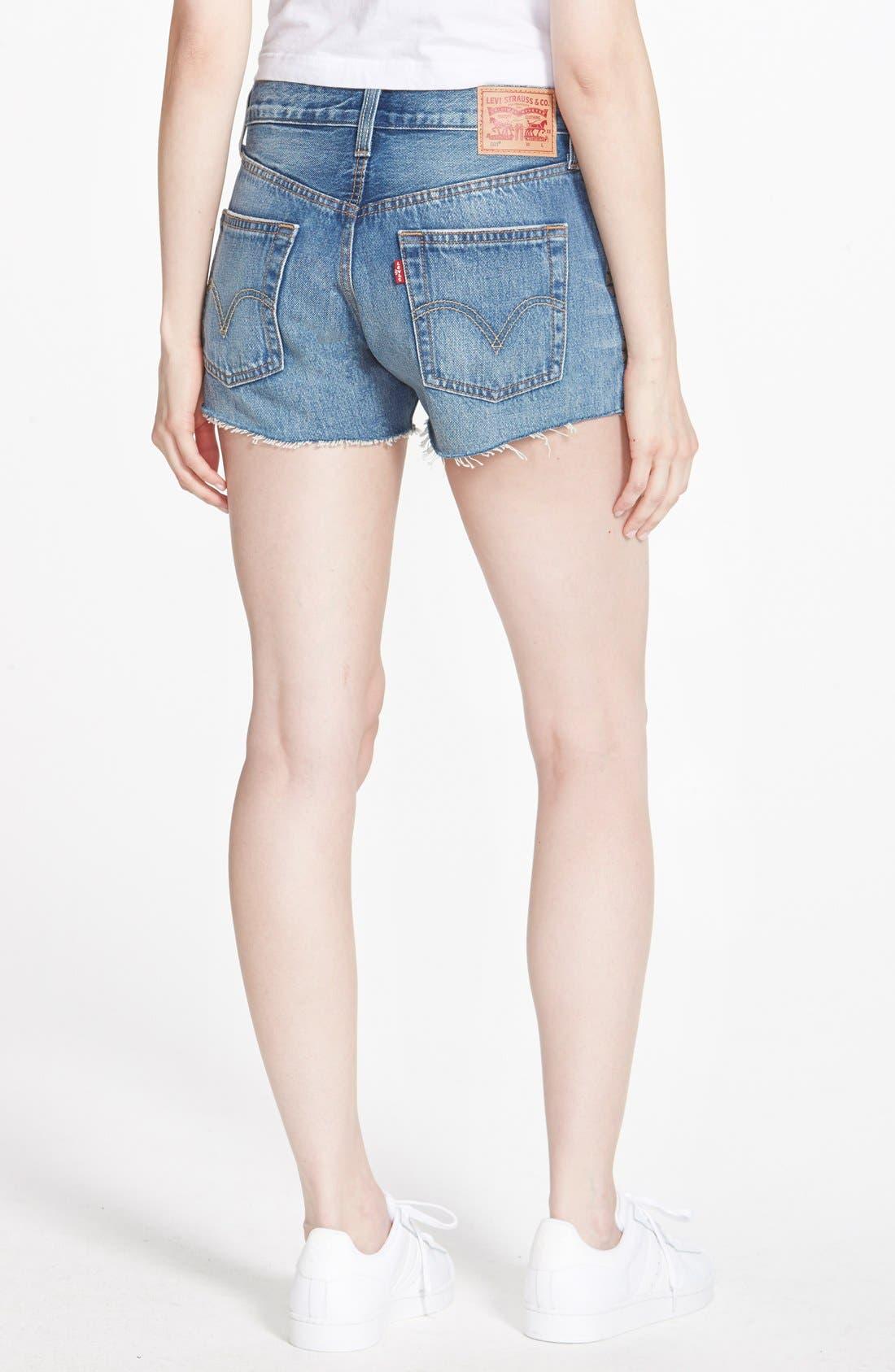 Alternate Image 2  - Levi's® '501®' Cutoff Denim Shorts (Brightest Blue)