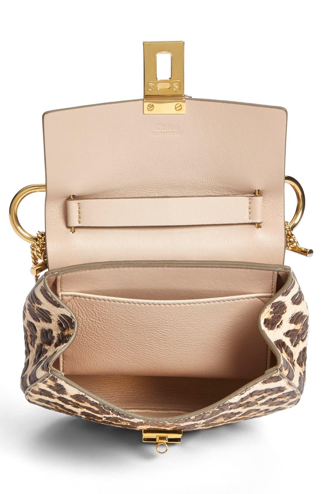 Alternate Image 3  - Chloé 'Drew' Leopard Print Leather Shoulder Bag