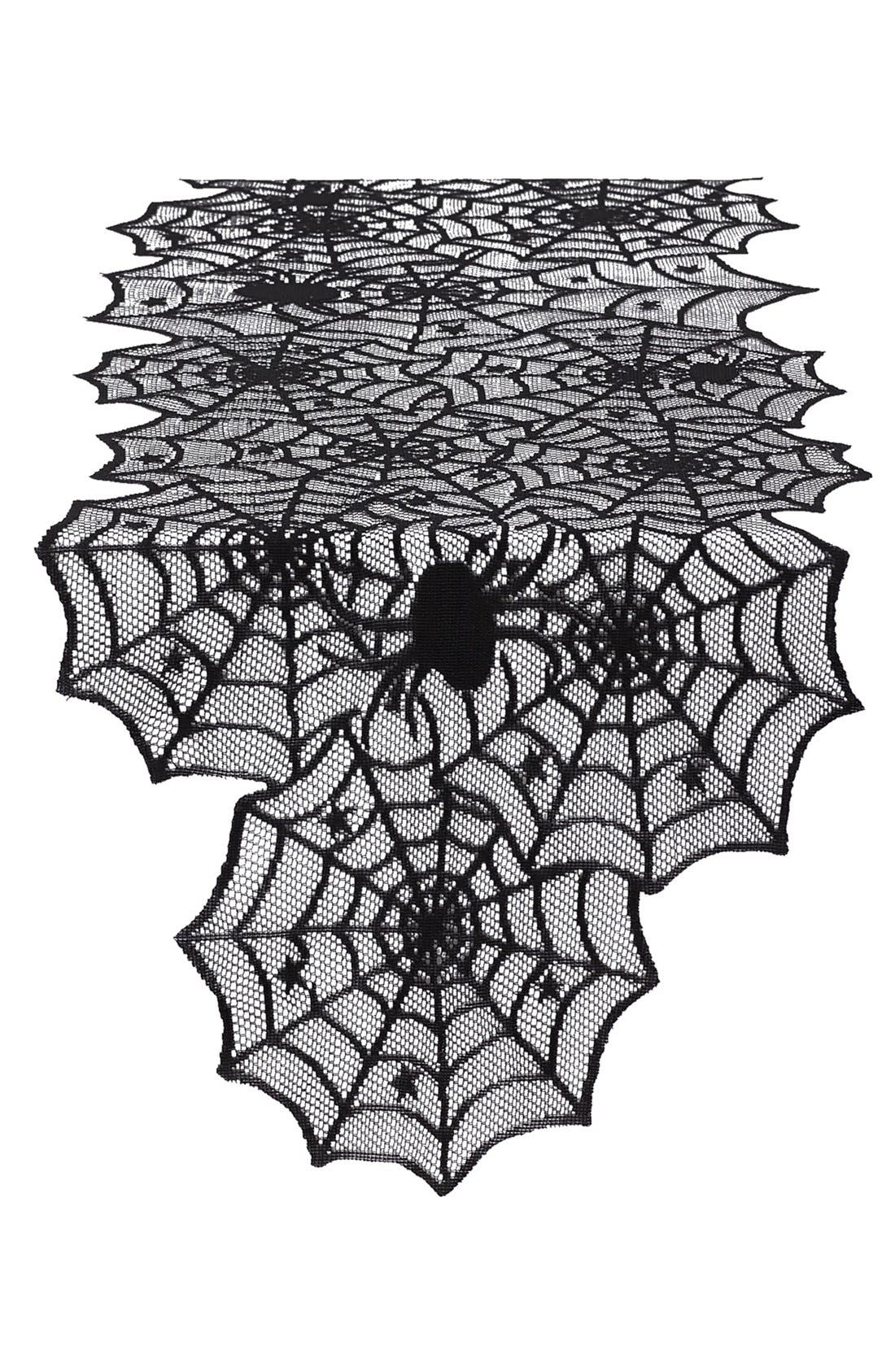 Main Image - Design Imports Spider Web Lace Table Runner