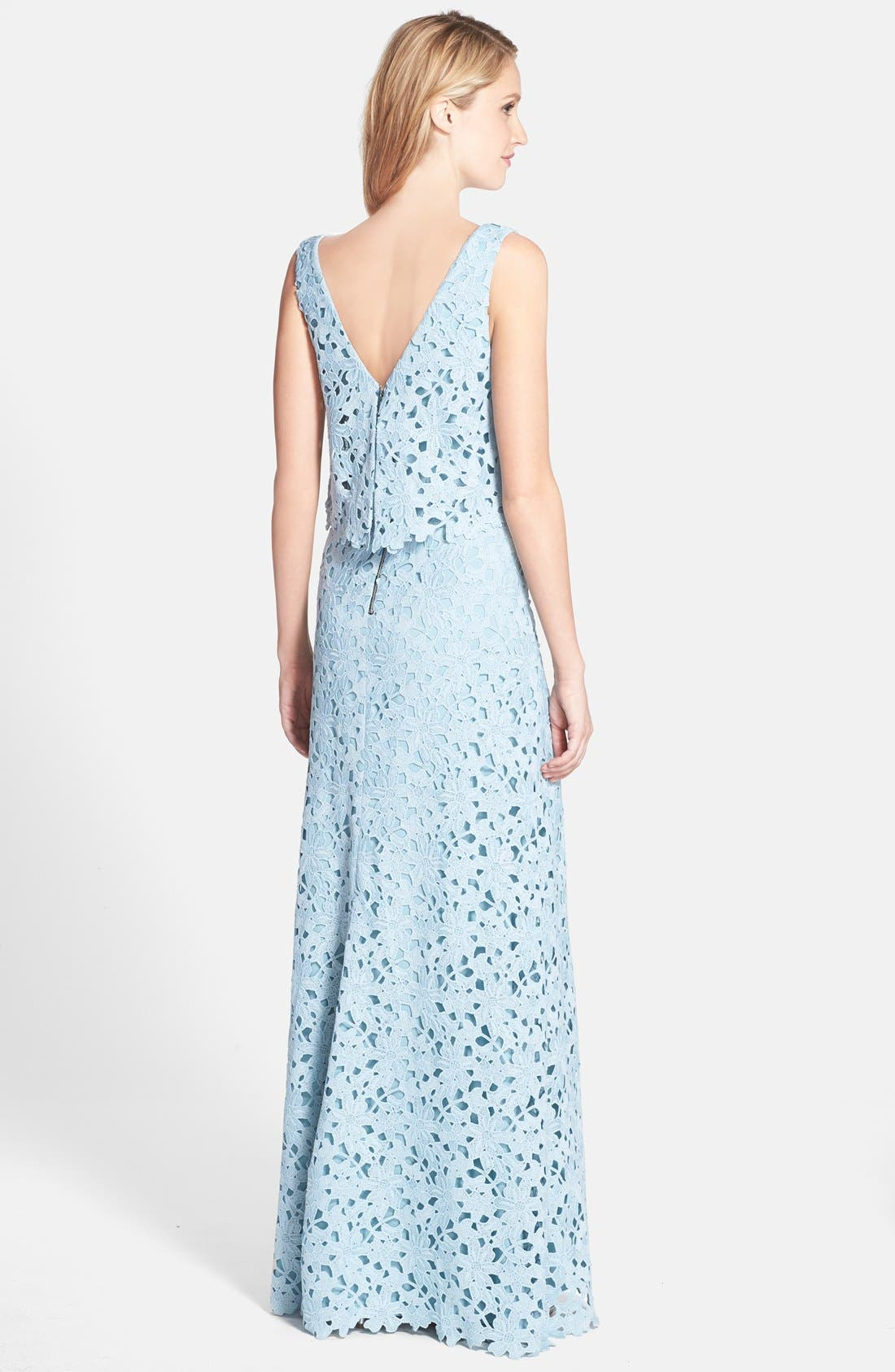 Alternate Image 2  - Vera Wang Lace Popover Gown