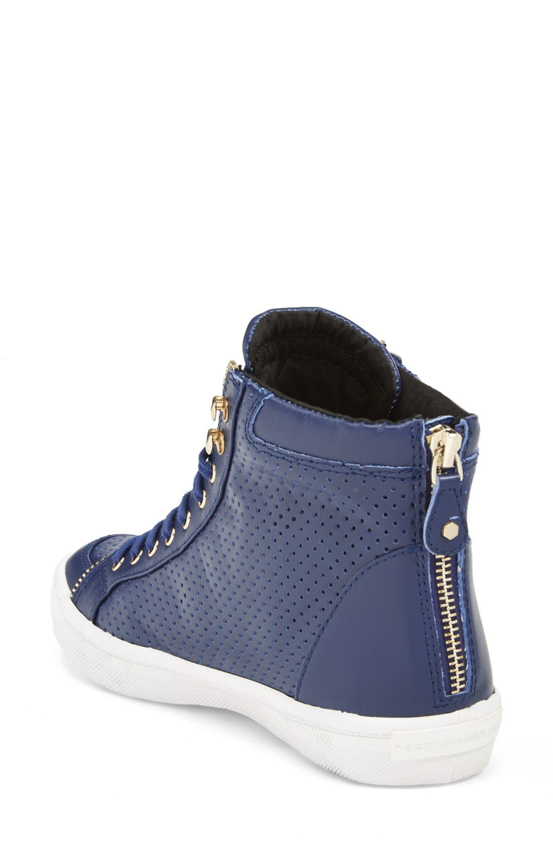 Alternate Image 2  - Rebecca Minkoff 'Sandi' Perforated & Quilted Leather High Top Sneaker (Women)