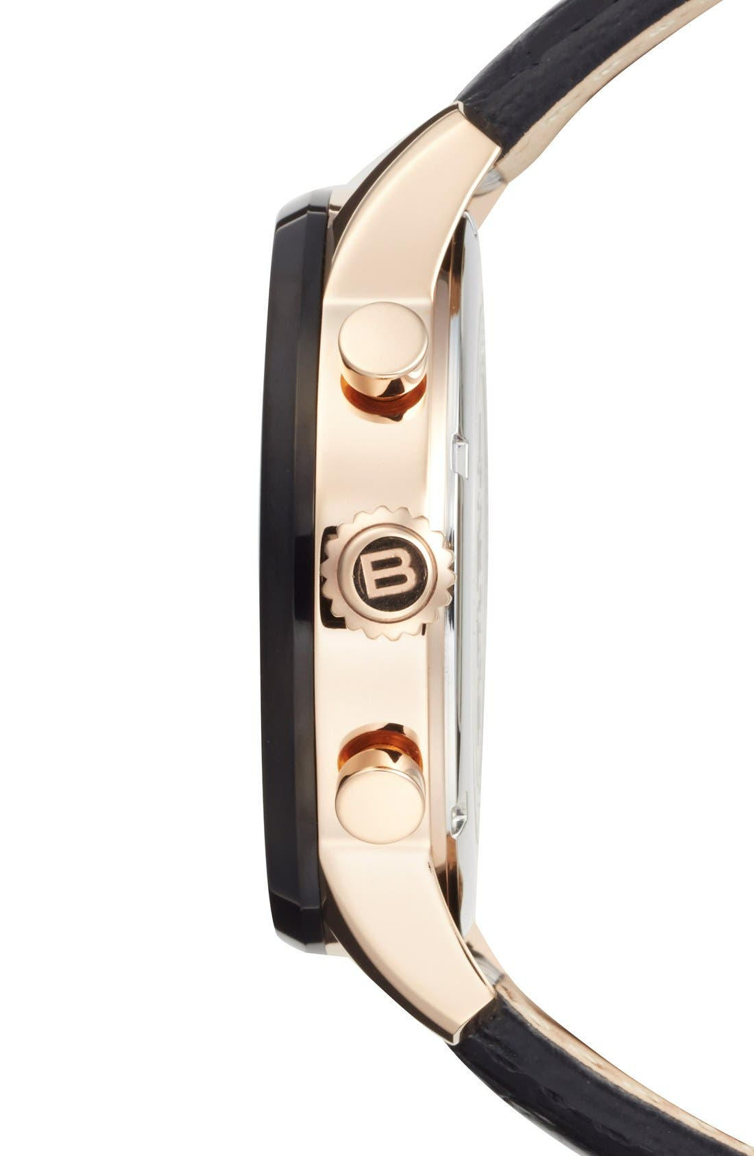 Alternate Image 3  - Breil 'Miglia' Chronograph Leather Strap Watch, 44mm