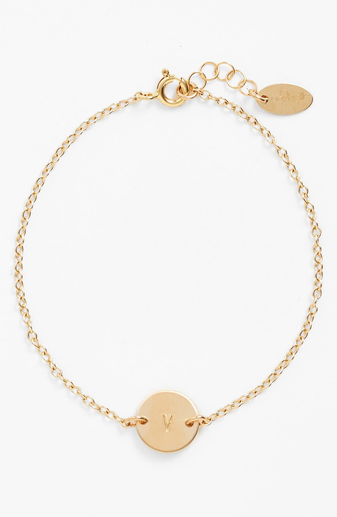 Alternate Image 1 Selected - Nashelle Initial Mini Disc Bracelet