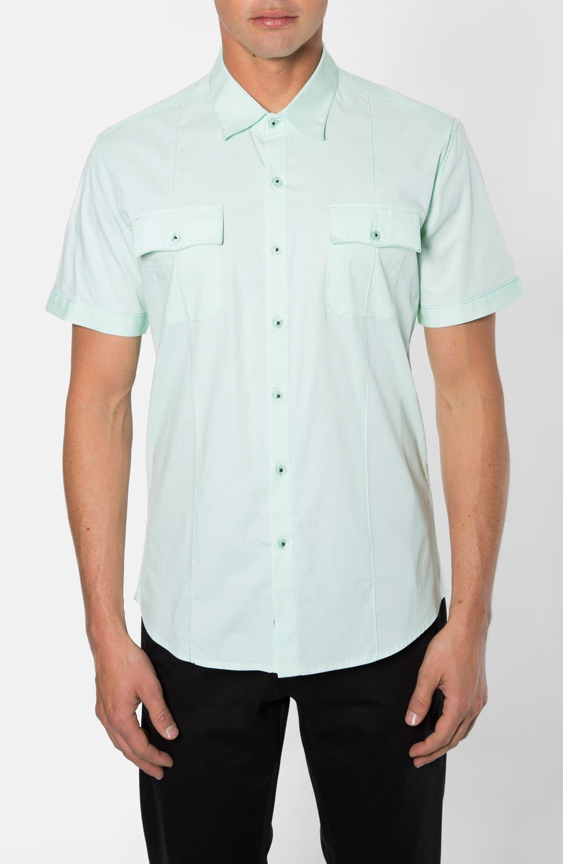 Alternate Image 1 Selected - 7 Diamonds 'American Band' Trim Fit Cotton Sport Shirt