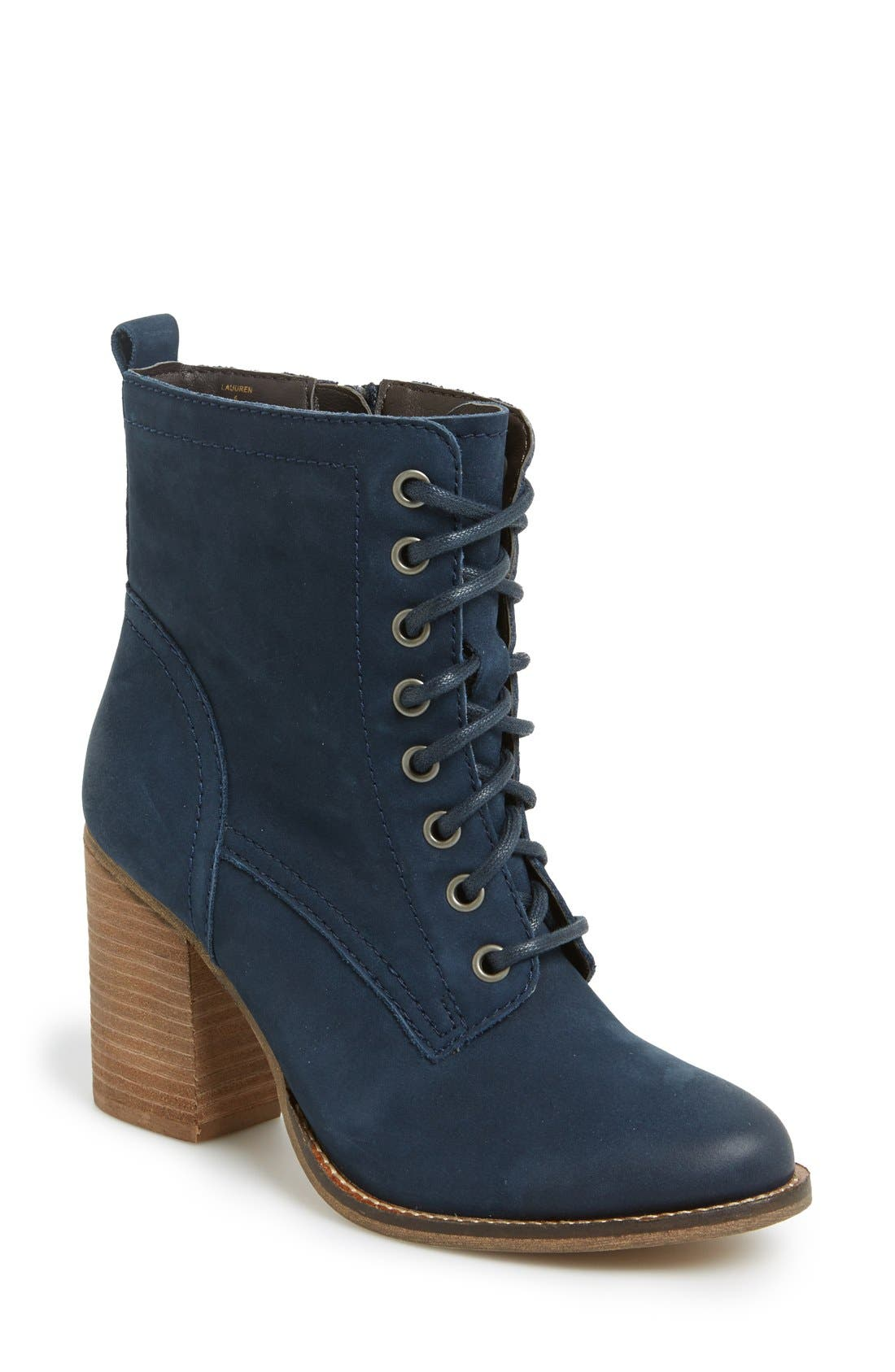 Main Image - Steve Madden 'Lauuren' Lace-Up Bootie (Women)