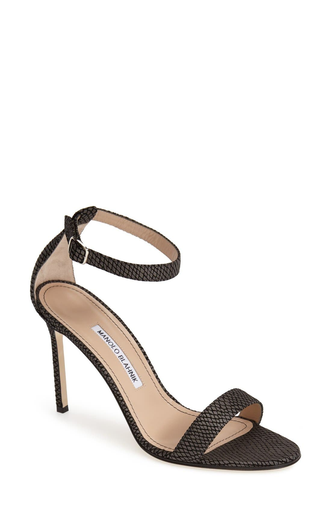 Alternate Image 1 Selected - Manolo Blahnik 'Chaos' Ankle Strap Pump (Women)
