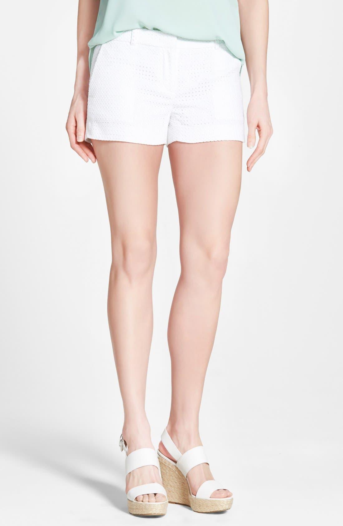 Main Image - MICHAEL Michael Kors Cotton Eyelet Short Shorts