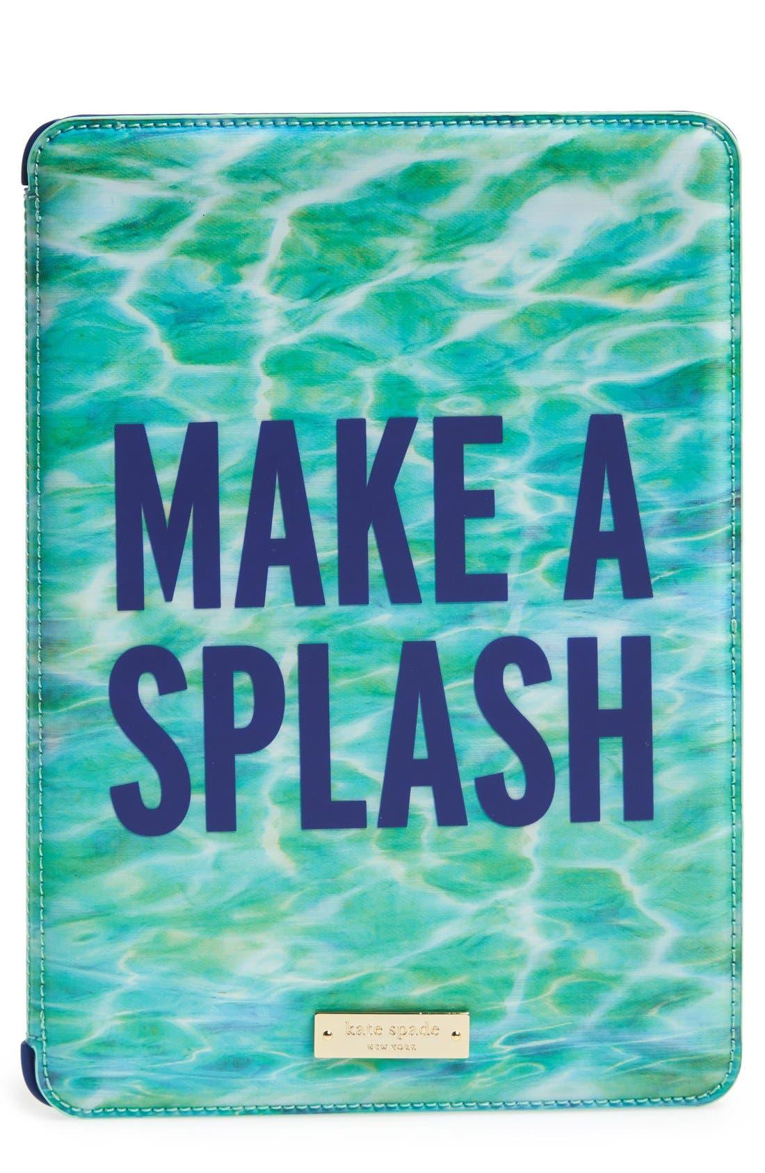 Alternate Image 1 Selected - kate spade new york 'make a splash' lenticular iPad Air folio hardcase