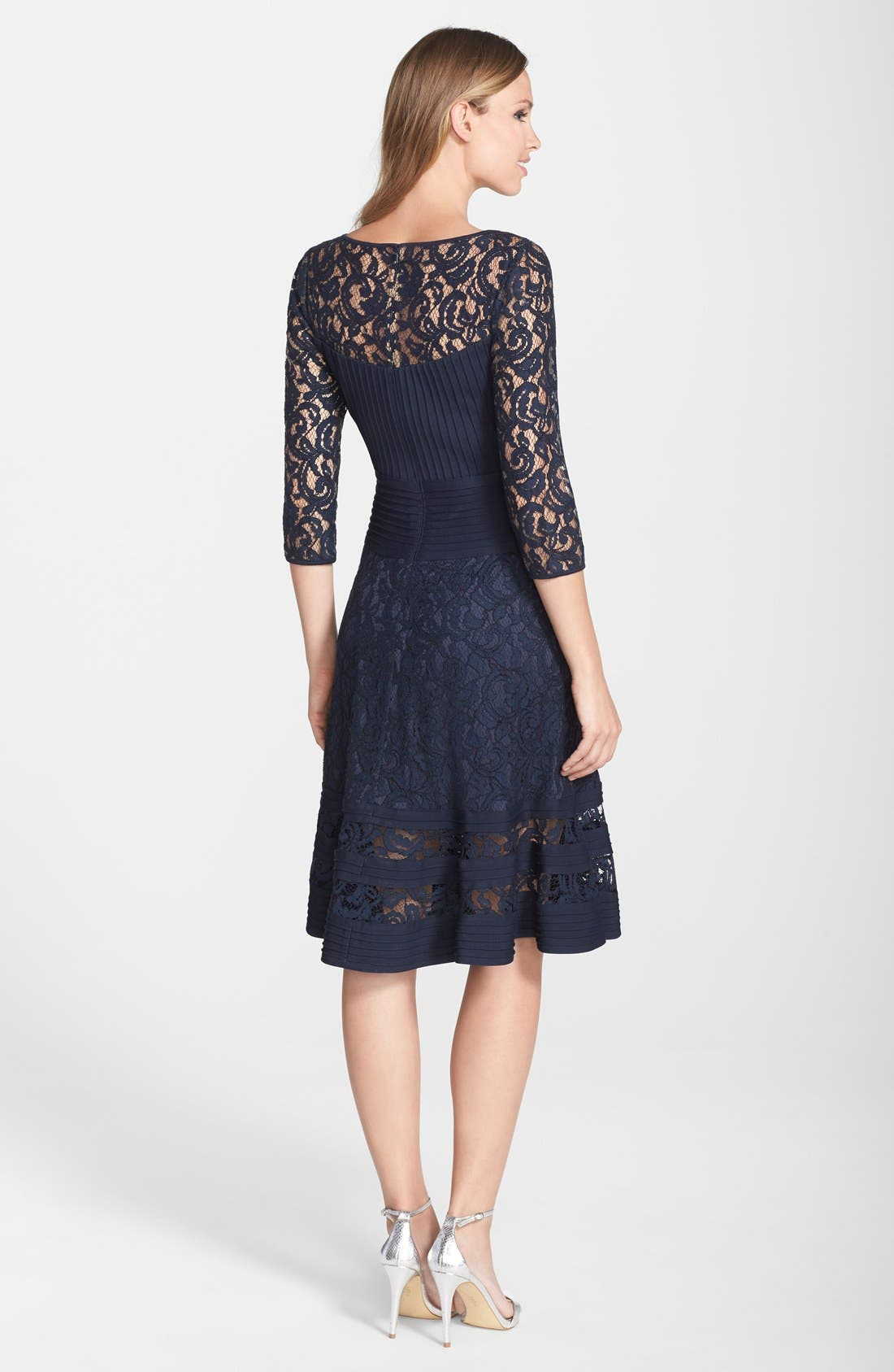 Alternate Image 2  - Tadashi Shoji Lace Fit & Flare Dress