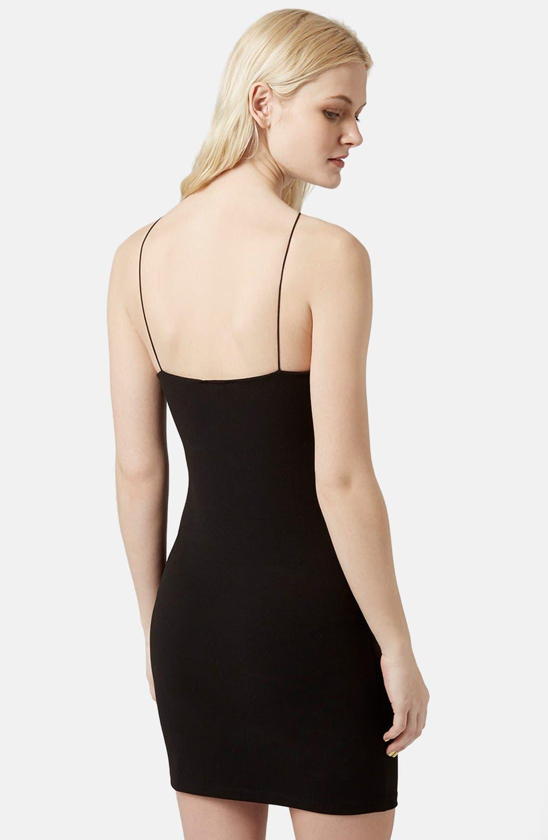 Alternate Image 2  - Topshop Strappy Body-Con Dress