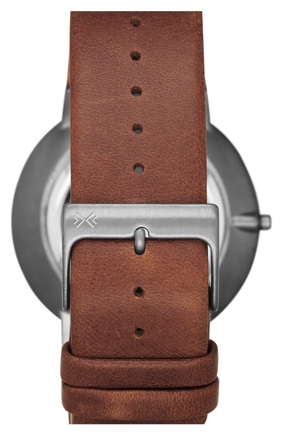 Alternate Image 2  - Skagen 'Ancher' Leather Strap Watch, 40mm (Nordstrom Exclusive)