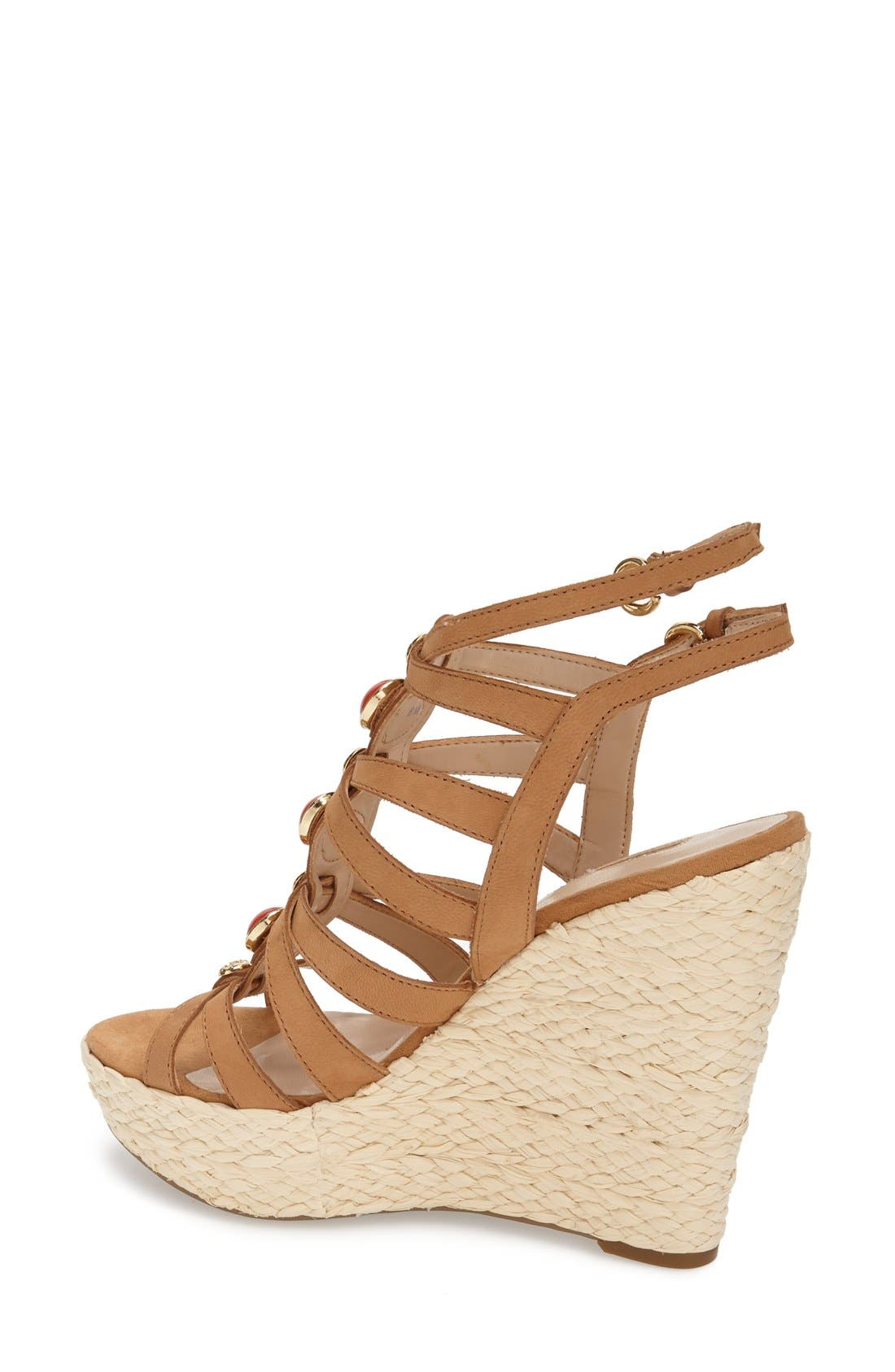 Alternate Image 2  - GUESS 'Onixx' Snake Embossed Leather Wedge Sandal (Women)