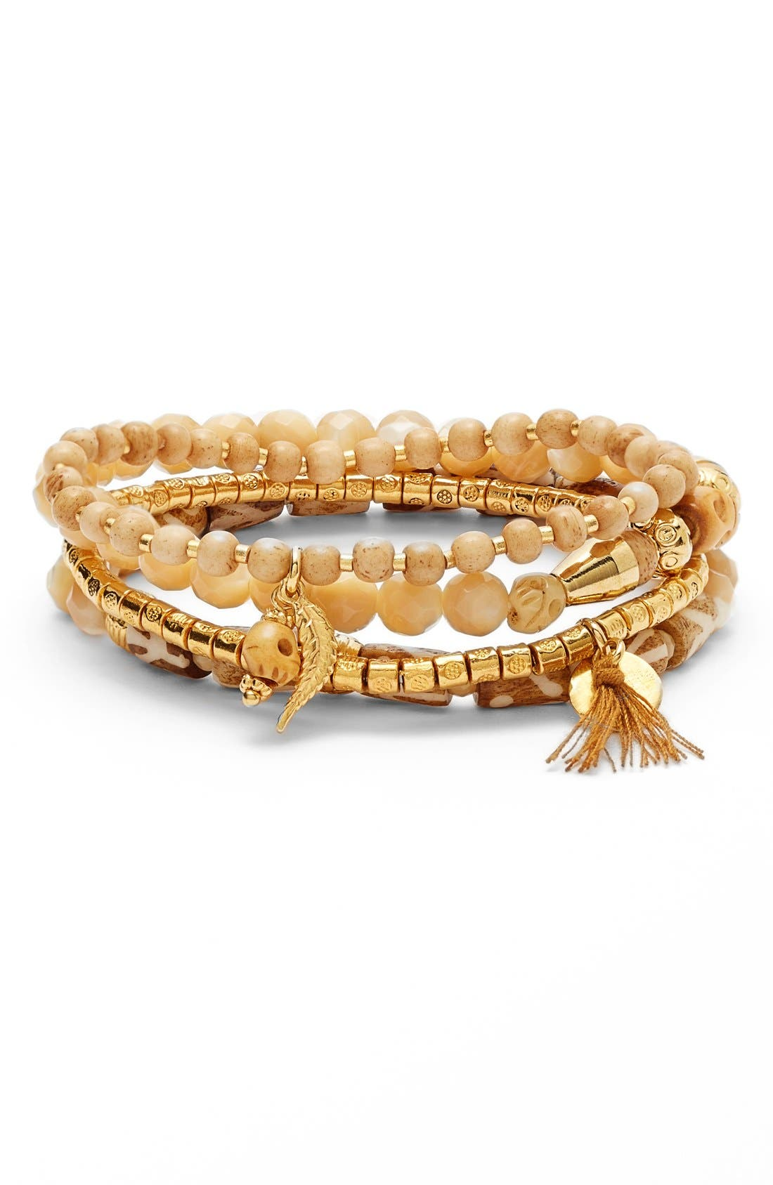 Alternate Image 1 Selected - Chan Luu Beaded Stretch Bracelets (Set of 4)