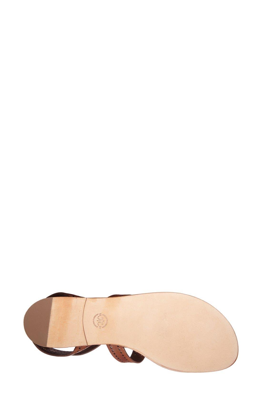 Alternate Image 4  - Johnston & Murphy 'Patti' Perforated Leather Thong Sandal (Women)