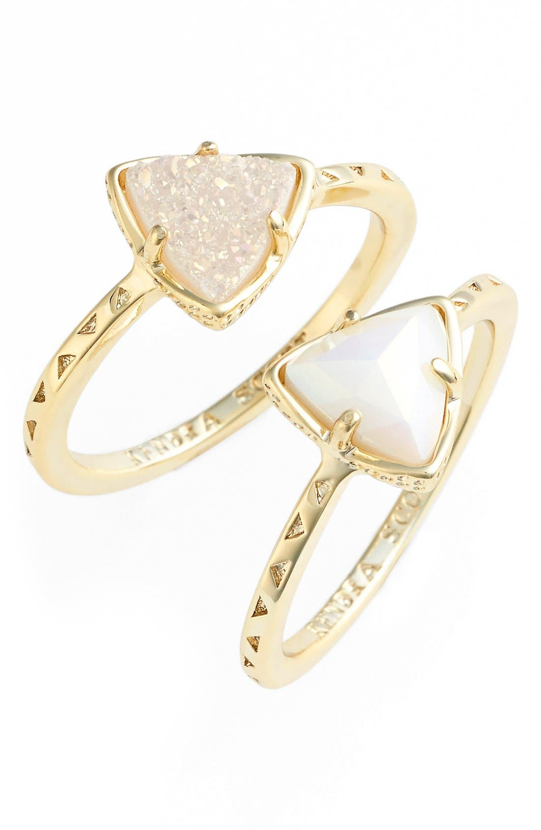 Main Image - Kendra Scott 'Anna' Triangle Rings (Set of 2)